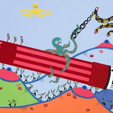 Painting - Spaceship 2010 - Toyism. Buy art online.