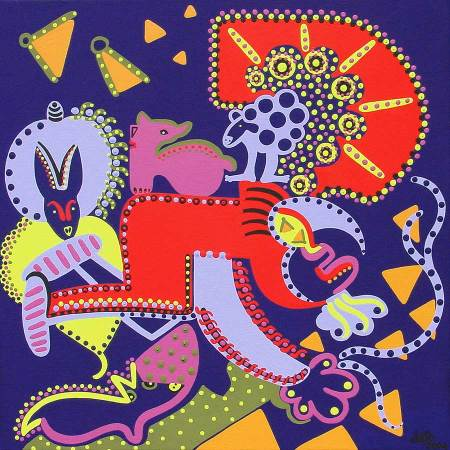 Painting - Gold Digger - Toyism. Buy art online.