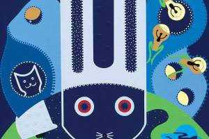 Schilderij - Verlichting Spaarhaas - Toyisme. Hedendaagse kunst online kopen.
