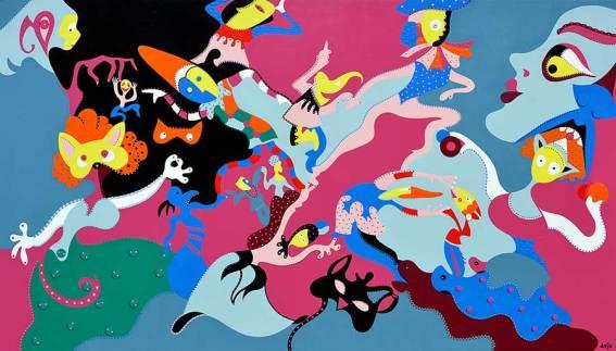 Grand Carnaval | Schilderij | Toyisme Kunstbeweging