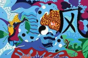 Kunstdruk - Huis Tuimelaar - Toyisme. Kunst te koop. Koop kleurrijke kunstdruk online.