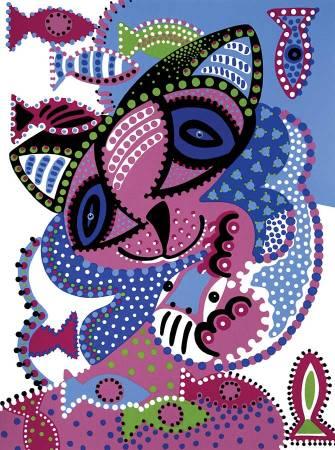 Zeefdruk - Grafiek - Vrienden Zeefdruk - Toyisme. Kunst te koop. Koop kleurrijke kunstdruk online.