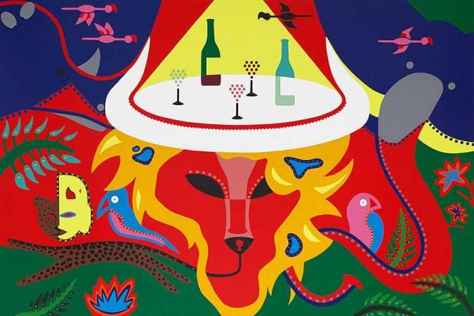 Zeefdruk - Grafiek - Big Five Zeefdruk - Toyisme. Kunst te koop. Koop kleurrijke kunstdruk online.