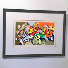 Silkscreen Horsepower Mania Framed - Toyism Art Movement