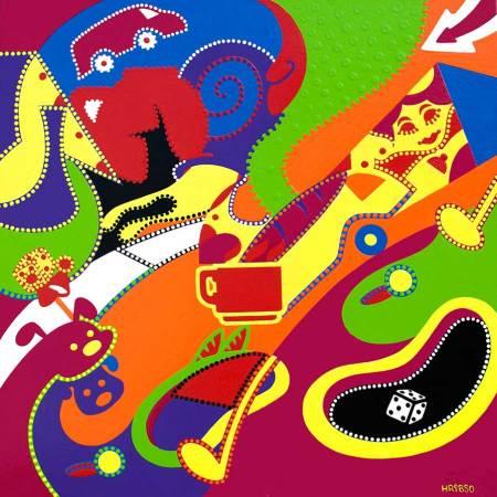 Schilderij - Leef Droom - Toyisme. Hedendaagse kunst online kopen.