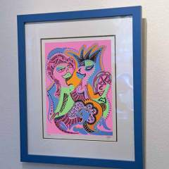 Silkscreen - Ladies and Hairdressing - Framed - Toyism Art Movement