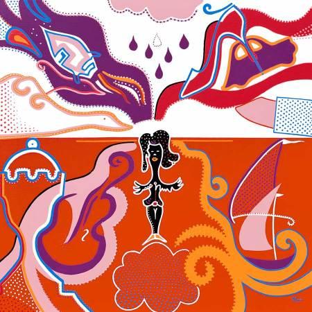 Schilderij - Terug Tijd - Toyisme. Hedendaagse kunst online kopen.