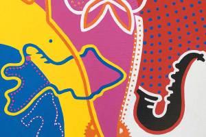 Schilderij - Guppy - Toyisme. Hedendaagse kunst online kopen.