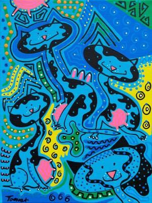 Schilderij - Op Koe Lijken - Toyisme. Hedendaagse kunst online kopen.