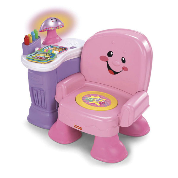 fisher price chair pink microfiber office high back song story musical reviews - toylike