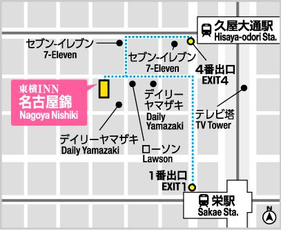 【公式HP最安値】ビジネスホテルの東橫INN名古屋錦