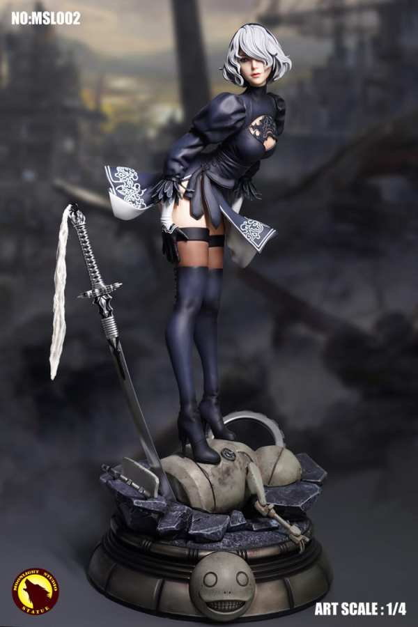 """6/"""" NieR:Automata 2B Battle Action Figure YoRHa No.2 Collection Statue Toy In Box"""