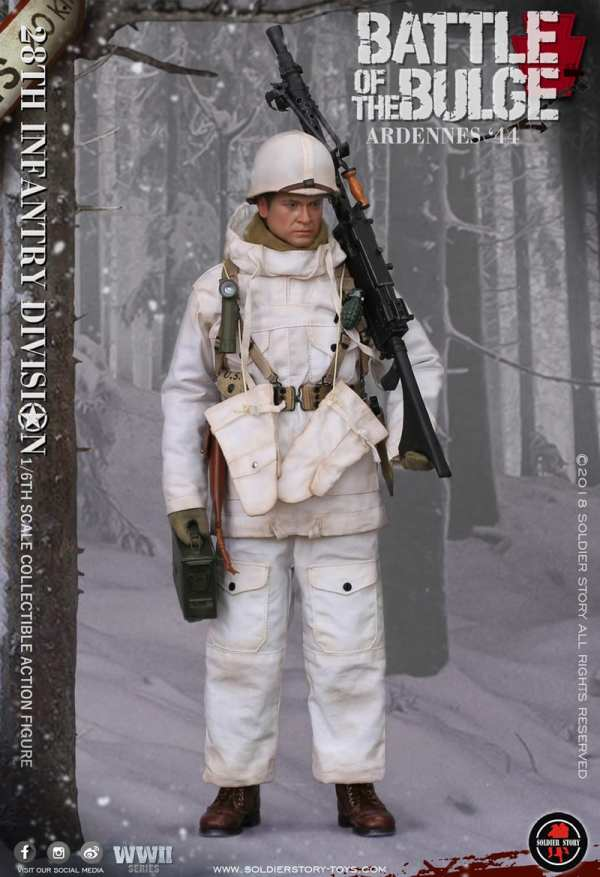 ARMY 28th Infantry Division 1944 Ardennes Neige Costume 1//6 Soldier Story World War Two U.S