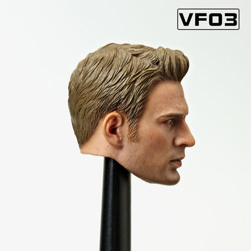 Heads King HK002 1//6th US-Euro Male Head Sculpt Carving Old Captain America Toys
