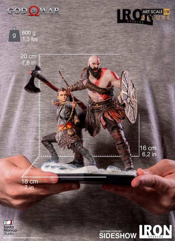 Kratos Atreus Deluxe God Of War 1 10 Scale Statue