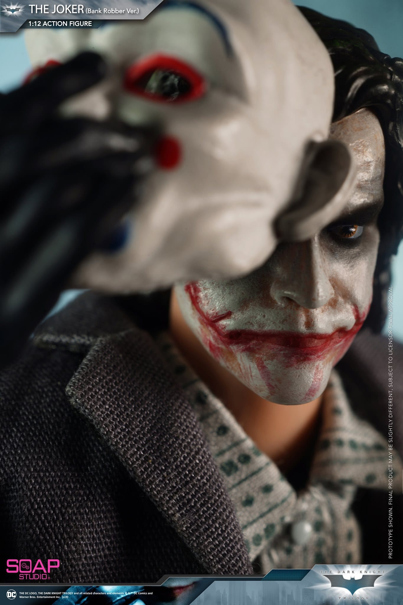 The Joker Bank Robber Clown Mask 1//12 scale toy