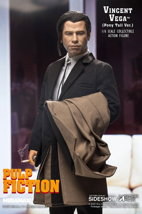 Star Ace Toys Pulp Fiction Vincent Vega with Pony Tail 1:6 Scale Action Figure Multicolor