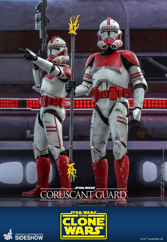 The Clone Wars Star Wars Coruscant Guard Hot Toys 1//6 TMS025