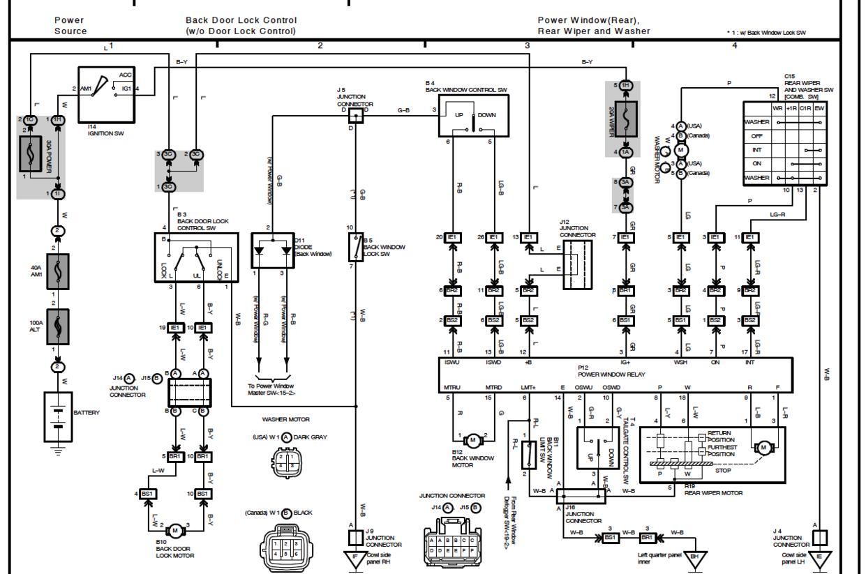 hight resolution of 2000 toyota 4runner windshield washer wiring diagram data circuit 1997 toyota 4runner fuse diagram 1995 toyota