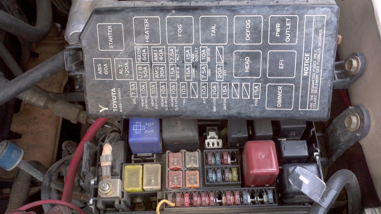 Toyota 4runner Fuse Box Diagram On 1995 Honda Accord Fuse Box Diagram