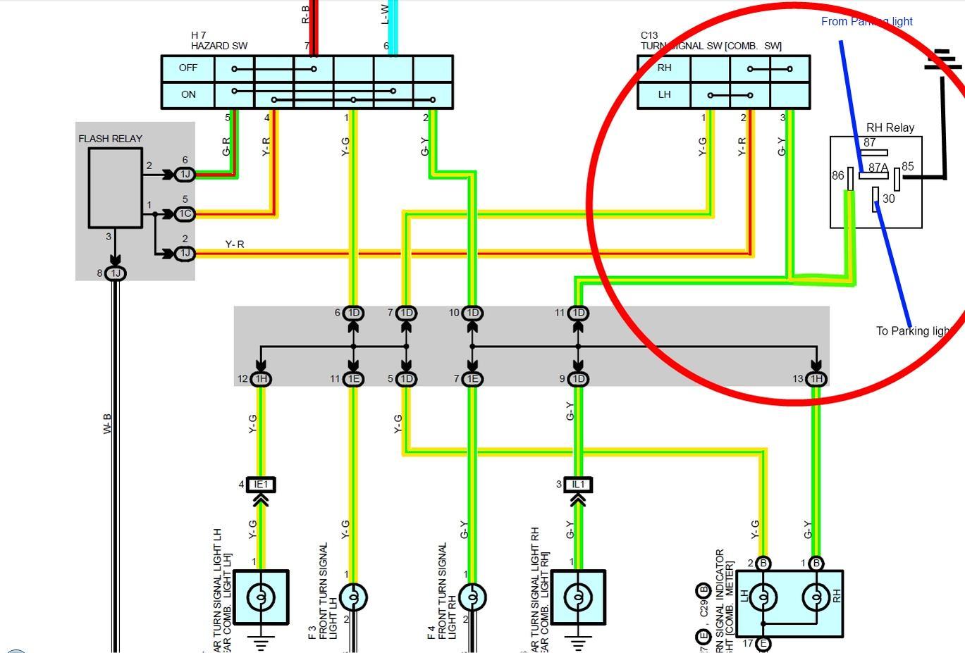 toyota land cruiser 1996 electrical wiring diagram solar pv uk lights parking light blinkers 4runner forum largest