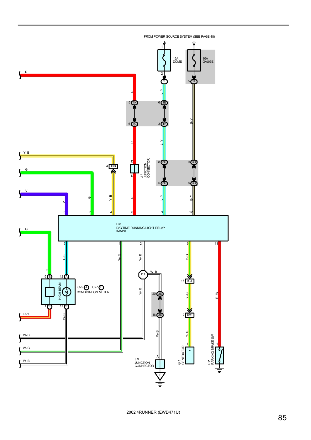 medium resolution of 2000 toyota headlight diagram schema diagram database toyota yaris headlight wiring diagram toyota 4runner headlight wiring