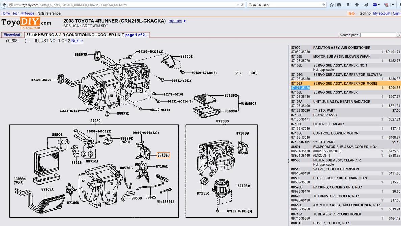 hight resolution of  buzzing from air conditioner toyota 4runner 2003 4runner wiring diagram 2003 4runner ac diagram