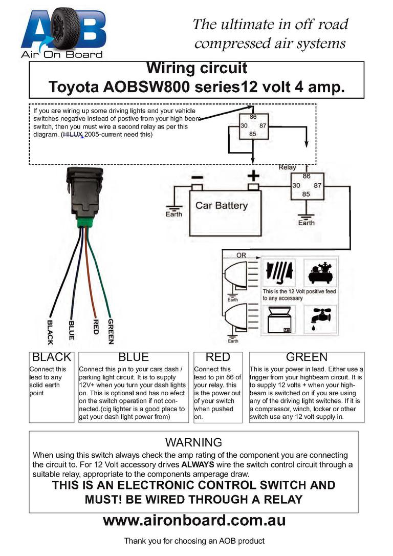 hight resolution of factory style fog light switch fits knock out aob