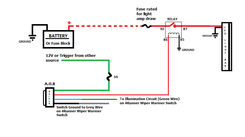 Wiring Diagram For 12v Light Bar
