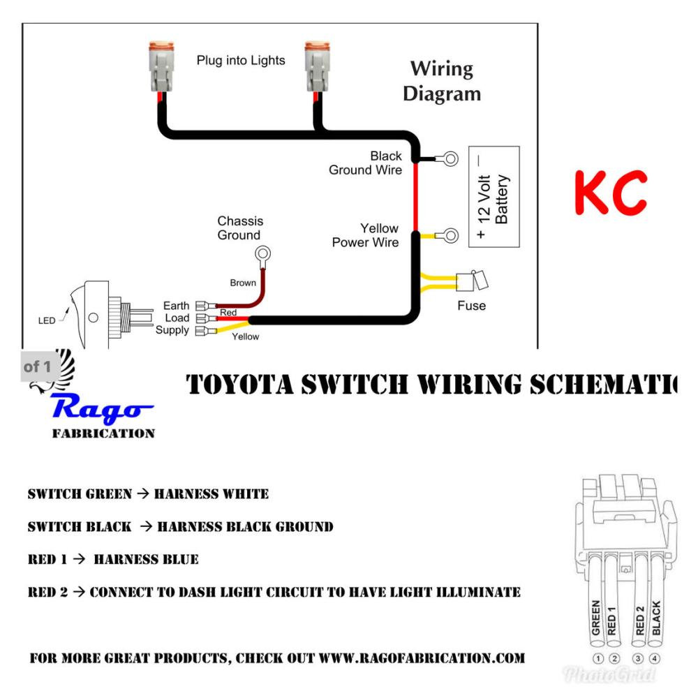 medium resolution of lights switch wiring also led light wiring diagram further kc light kc headlight wiring diagram rago