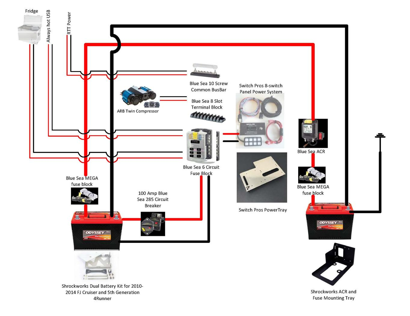 hight resolution of best dual battery setup for a 5th gen 4runner t4r dual wiring