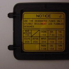 2005 F350 Fuse Panel Diagram Tachometer Install Fox Body Toyota 4runner Box Wiring