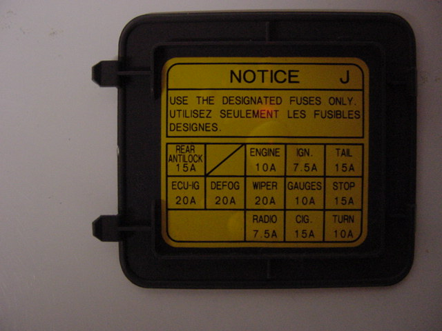 1990 Toyota 4runner Relay Fuse Box Diagram
