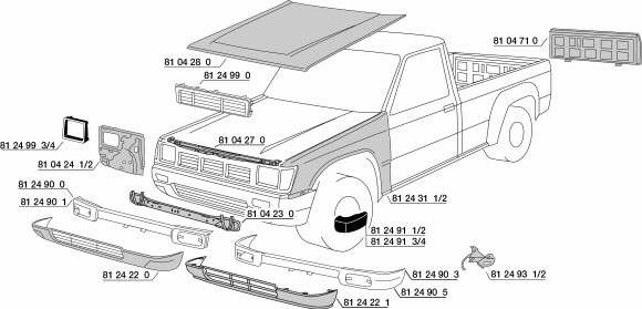Toyota hilux body panels parts