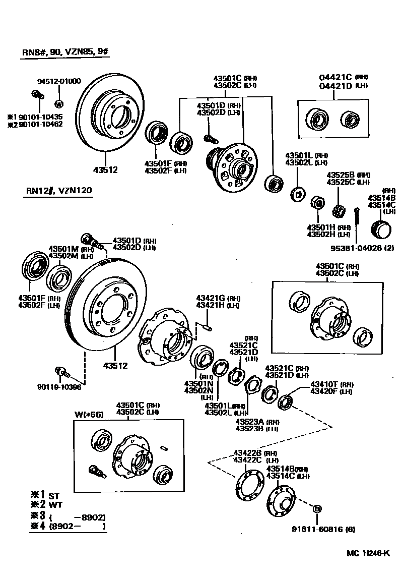 Toyota land cruiser front hub assembly diagram