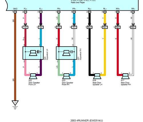 toyota tundra speaker wiring diagram dodge ram 2005 camry system data six non jbl 4runner forum stereo pin