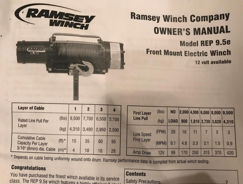 medium resolution of  fs ramsey rep series 9 5e winch extras new 0 seattle