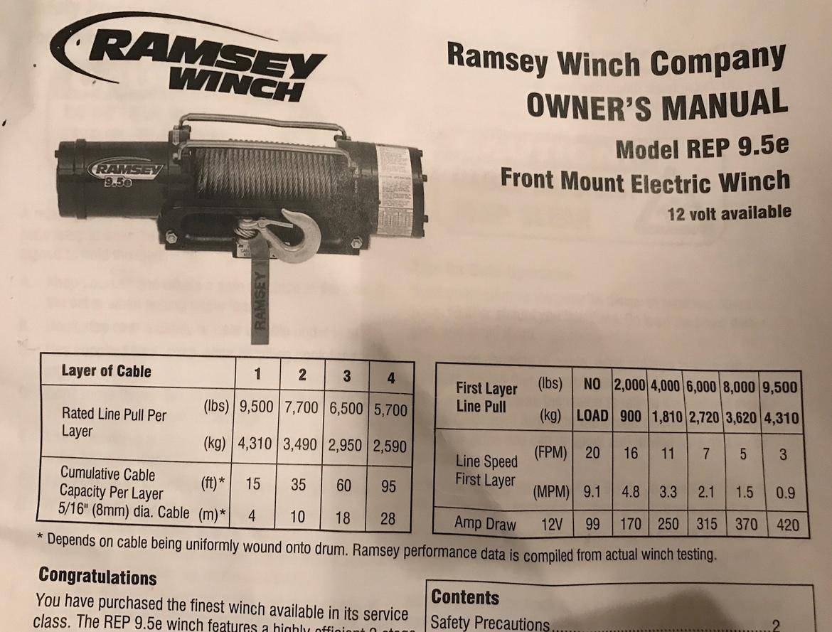 hight resolution of  fs ramsey rep series 9 5e winch extras new 0 seattle