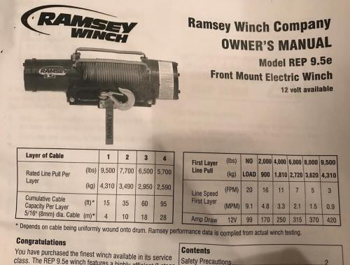 small resolution of  fs ramsey rep series 9 5e winch extras new 0 seattle
