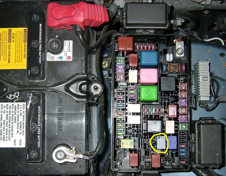 2007 Toyota Camry Ac Relay