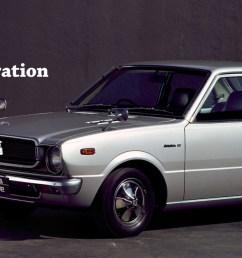 vehicle heritage corolla the third generation [ 1600 x 648 Pixel ]
