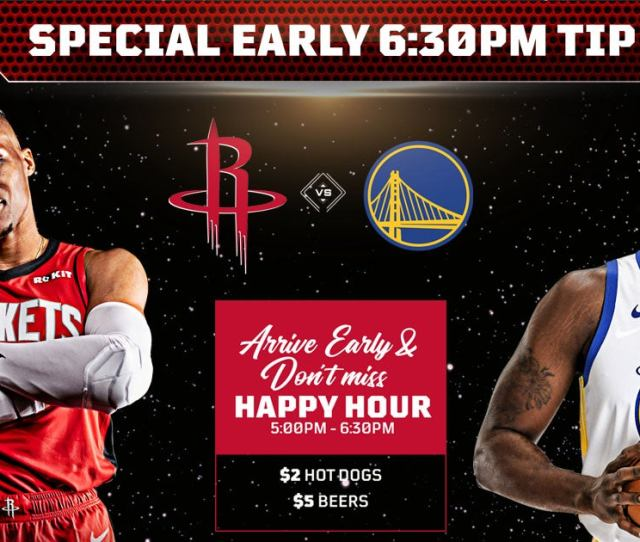 Houston Rockets Vs Golden State Warriors Houston Toyota Center