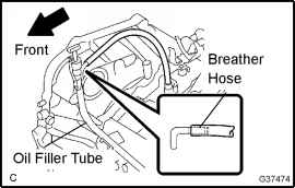 When rotating the torque converter clutch do not push it