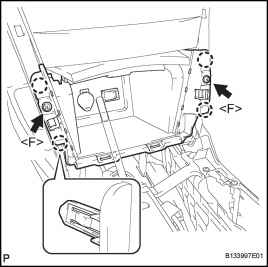 Remove Upper Console Rear Panel Subassembly for Manual