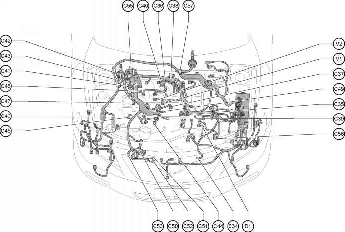 related with mitsubishi mirage engine diagram and sensor located
