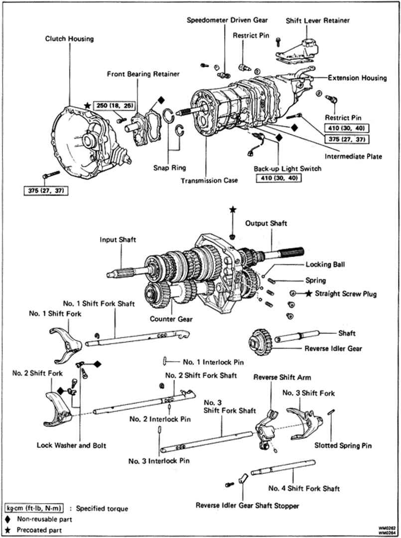 Toyota W58 Transmission Diagram. Toyota. Auto Parts