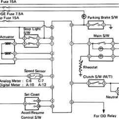 Basic Trailer Light Wiring Diagram 3 Way Switch Single Pole Cruise Control System - Toyota Celica Supra Mk2 86 Repair