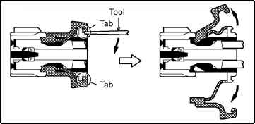 With terminal retainer or secondary locking device