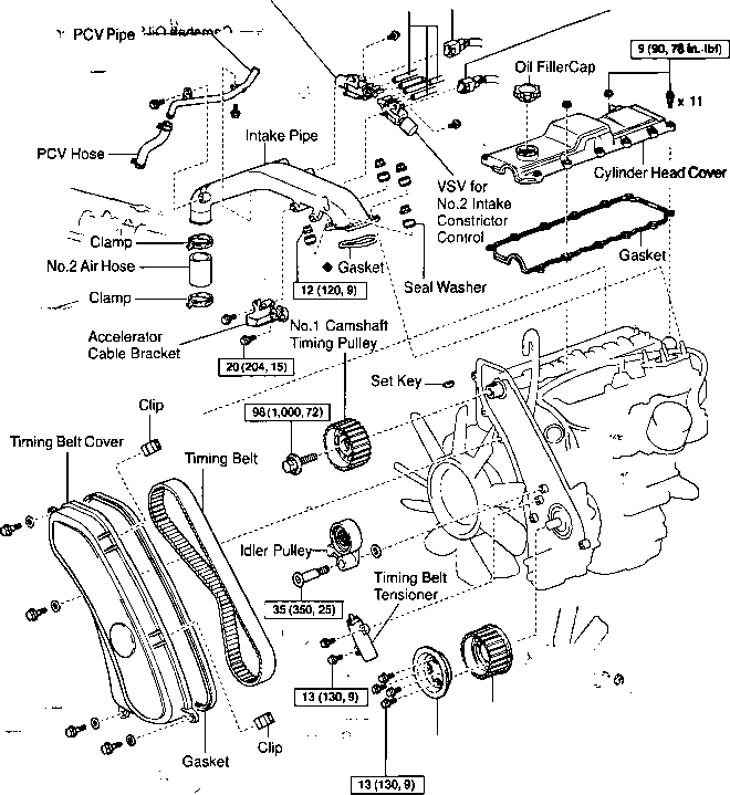 2000 Toyota Celica Gt Vacuum Diagram • Wiring Diagram For Free