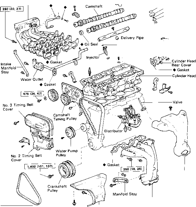 2000 Toyota Sienna Exhaust Diagram. Toyota. Auto Parts